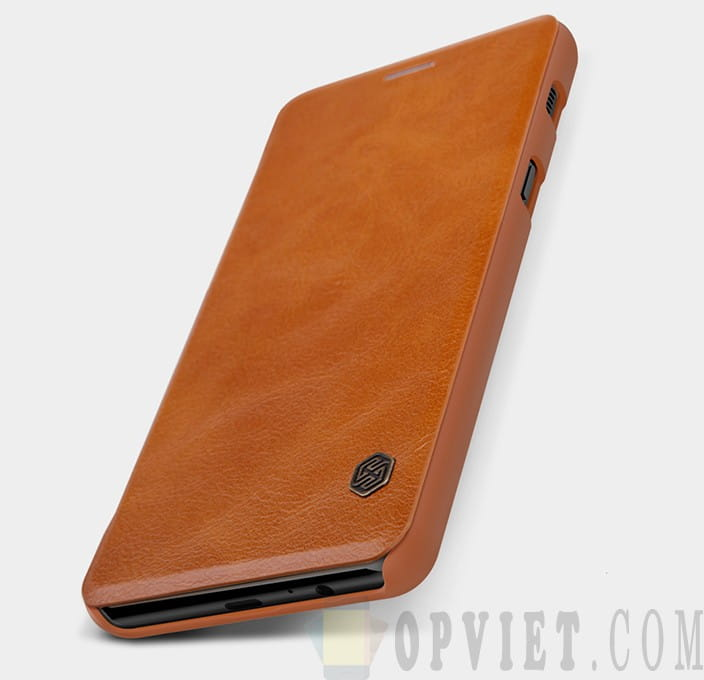 bao da samsung galaxy a8 2018 nillkin qin leather