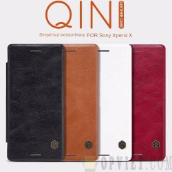bao da sony xperia x nillkin qin leather