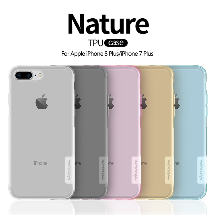 Ốp Lưng Dẻo iPhone 8 Plus Nillkin - Trong Suốt