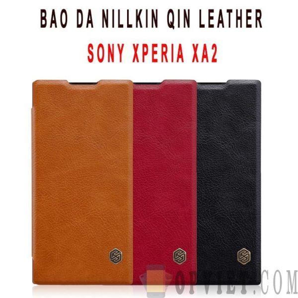 bao da sony xperia xa2 nillkin qin leather