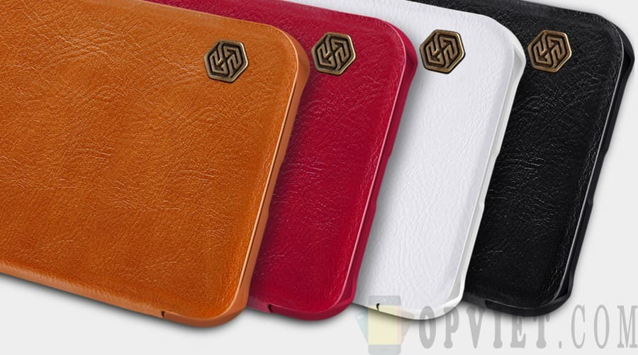 bao da iphone xs max nillkin qin leather