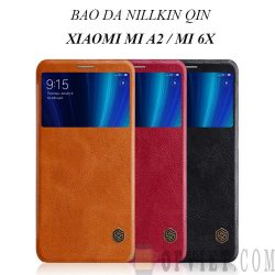 bao da xiaomi mi a2 nillkin qin leather