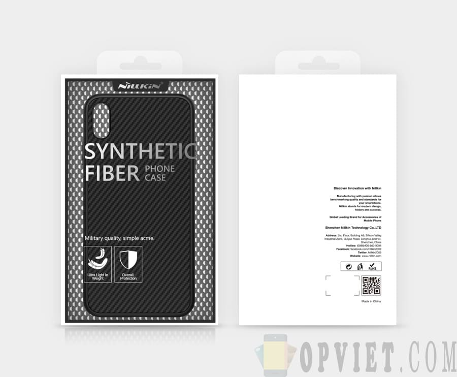 ốp lưng iphone xs max nillkin synthetic fiber