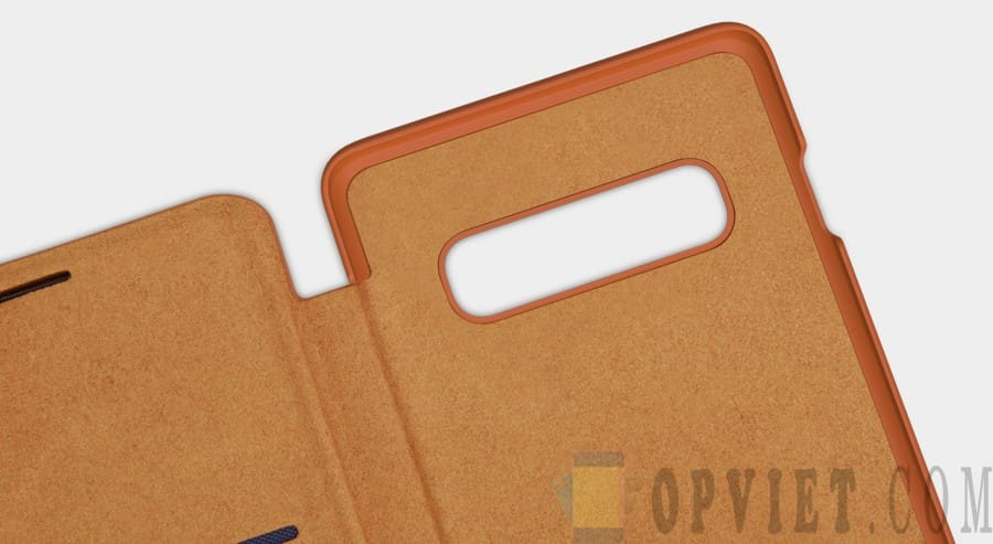 bao da samsung galaxy s10 nillkin qin leather